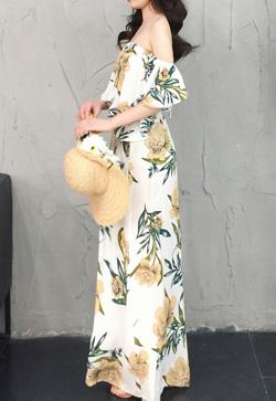 [수입] 하와이안 옐로우 비치 원피스 30대여성쇼핑몰 결혼식하객패션 하객원피스 수입여성의류 원피스쇼핑몰 연예인원피스
