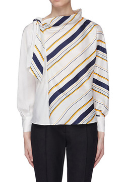[수입][즉시발송] 불규칙 대각선 셔츠