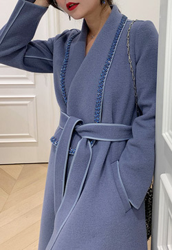 [수입] 사파이어 블루빛 코트