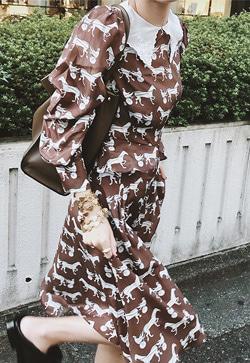 [수입] 알로아 초콜릿 원피스