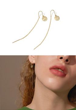 [수입] 투디 체인 롱 귀걸이
