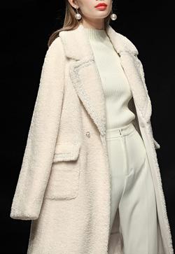[수입] 옷깃진주 마리온느 코트