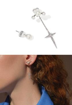 [수입] 펄스노우 크로스 귀걸이