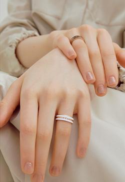 [수입] 로즈배색 링 반지
