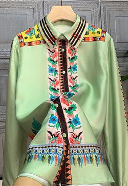 [수입] 이태리 컬러 실크 셔츠