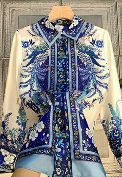 [수입] 템퍼 꽃 블랑 셔츠