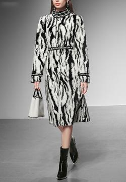 [수입] 흑백 타이거 럭셔리 코트