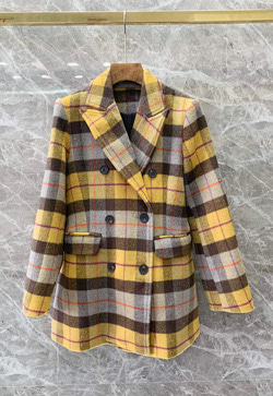 [수입] 옐로체킹 모직 자켓