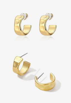 [수입] 프레스 골드 핀 귀걸이