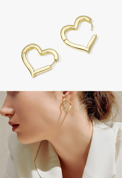 [수입] 하이츠 하트 귀걸이