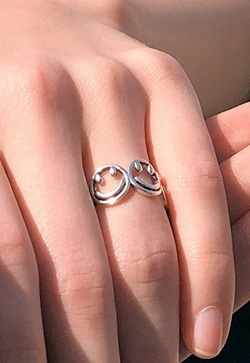 [수입] 스마일 즐거운 조인트 반지
