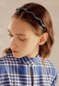 [수입] 벨벳 부드러운 컬리 머리띠