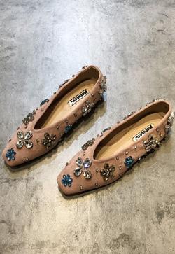 [수입] 꽃꽃 큐비니크 플랫 슈즈