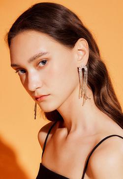 [수입] 렌디 프린지 보석 귀걸이