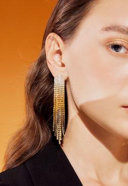 [수입] 그라데이션 골드 샴페인 귀걸이
