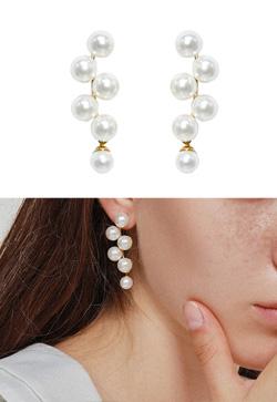 [수입] 프린 진주 핀 귀걸이