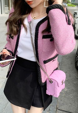 [수입] 레모나핑크 블랙라인 자켓