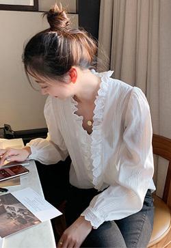[수입] 타이프 펀칭아일렛 셔츠