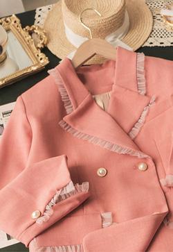 [수입] 솔리드연꽃 핑크 자켓