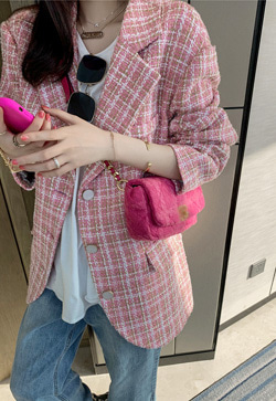 [수입] 핑크룩 오버핏 자켓