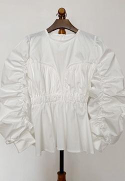 [수입] 마리아핏 셔링 셔츠