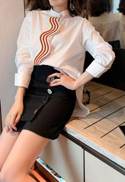 [수입] 컬러웨이브 셔츠&스커트 투피스 세트
