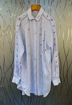 [수입] 찡스타일 스트라이프 셔츠