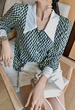 [수입] 히어그린 카라 셔츠