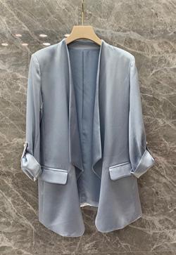 [수입] 스티치 롤업 자켓