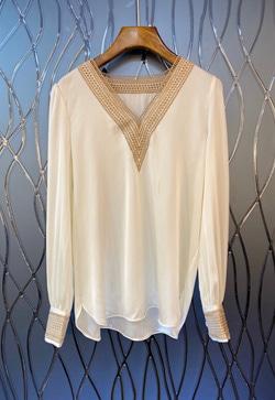 [수입] 올실크 우아한 셔츠 30대여성쇼핑몰 결혼식하객패션 하객원피스 수입여성의류 원피스쇼핑몰 연예인원피스