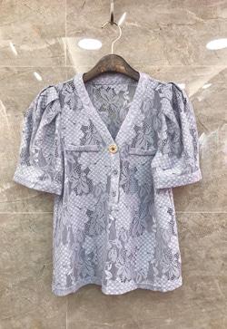 [수입] 브이콕 레이스 셔츠