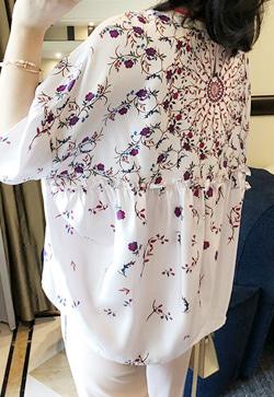 [수입] 프로란스 꽃 셔츠