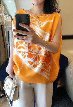 [수입] 실크오렌지 셔츠