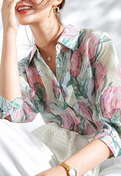 [수입] 부티크 실크소재 셔츠