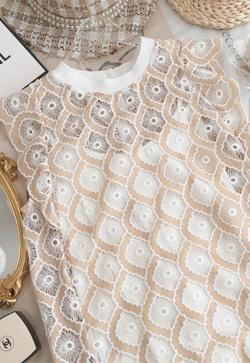 [수입] 미뉴엣 꽃잎 셔츠