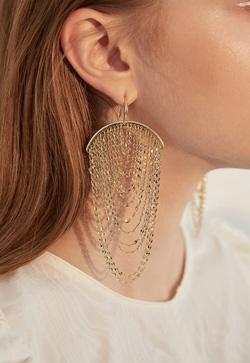 [수입] 방울골드 체인 귀걸이 악세사리쇼핑몰 체인목걸이 이어커프 명품귀걸이 명품스타일