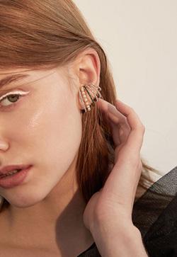 [수입] 여섯줄 한쪽 귀걸이 악세사리쇼핑몰 체인목걸이 이어커프 명품귀걸이 명품스타일