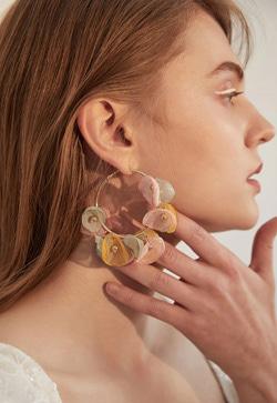 [수입] 마카롱빛 링 귀걸이 악세사리쇼핑몰 체인목걸이 이어커프 명품귀걸이 명품스타일