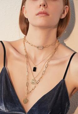 [수입] 에버골드 체인 목걸이 세트 악세사리쇼핑몰 체인목걸이 이어커프 명품귀걸이 명품스타일