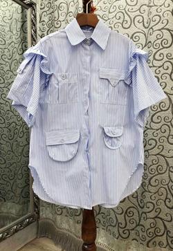 [수입] 쁘띠포켓 프릴 셔츠