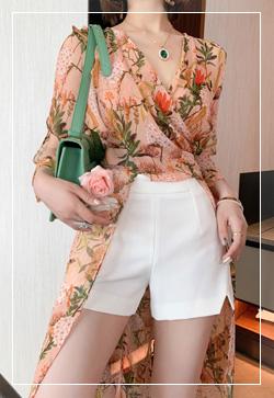 [수입] 마리오렌지 셔츠&팬츠 투피스 세트 30대여성쇼핑몰 결혼식하객패션 하객원피스 수입여성의류 원피스쇼핑몰 연예인원피스