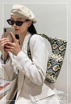 [수입] 엣지 끈 로제뱀피 백 30대여성쇼핑몰 결혼식하객패션 하객원피스 수입여성의류 원피스쇼핑몰 연예인원피스