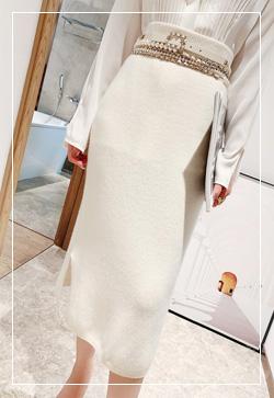 [수입] 메르시 캐시미어 스커트 30대여성쇼핑몰 결혼식하객패션 하객원피스 수입여성의류 원피스쇼핑몰 연예인원피스