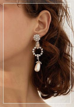 [수입] 티어스 실버큐빅 드롭 귀걸이 악세사리쇼핑몰 체인목걸이 이어커프 명품귀걸이 명품스타일