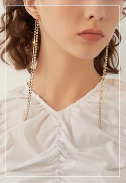 [수입] 별크롱 드롭 귀걸이 악세사리쇼핑몰 체인목걸이 이어커프 명품귀걸이 명품스타일