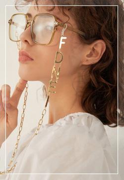 [수입] 에프골드 체인 안경걸이 악세사리쇼핑몰 체인목걸이 이어커프 명품귀걸이 명품스타일