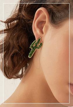 [수입] 마이클그린 선인장 귀걸이 악세사리쇼핑몰 체인목걸이 이어커프 명품귀걸이 명품스타일