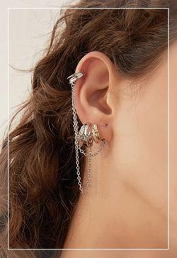 [수입] 써클링 체인 이어커프 귀걸이 악세사리쇼핑몰 체인목걸이 이어커프 명품귀걸이 명품스타일