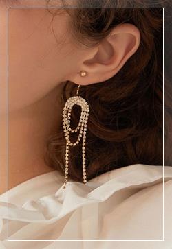 [수입] 멜팅골드 큐빅 귀걸이 악세사리쇼핑몰 체인목걸이 이어커프 명품귀걸이 명품스타일