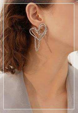 [수입] 하트아놀드 포인트 귀걸이 악세사리쇼핑몰 체인목걸이 이어커프 명품귀걸이 명품스타일